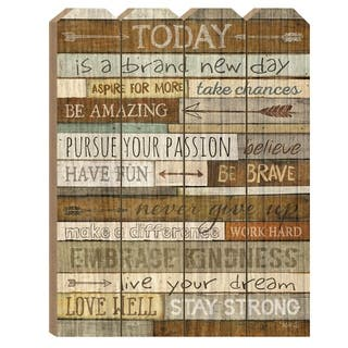 """""""Today"""" by Marla Rae, Printed Wall Art on a Wood Picket Fence"""