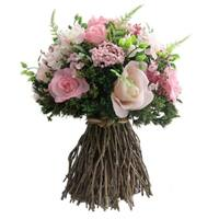Light Pink Mix Rose Twig Bouquet - Medium