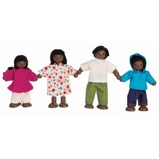 PlanToys Dollhouse Doll Family (Afro - American )