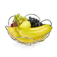 Mind Reader Modern Stainless Steel Fruit and Vegetable Basket Bowl, Silver