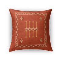 Amulet Kilim Rust Accent Pillow By Becky Bailey