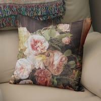 Rose Mallow Accent Pillow By Marina Gutierrez