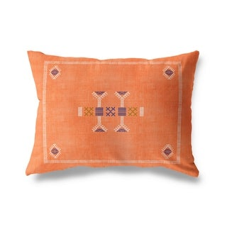 Morroccan Kilim Orange Lumbar Pillow By Becky Bailey