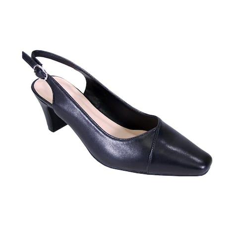 2a7949afd5e PEERAGE Taryn Women Extra Wide Width Comfort Slingback Dress Heel Pump