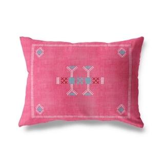 Morroccan Kilim Pink Lumbar Pillow By Kavka Designs
