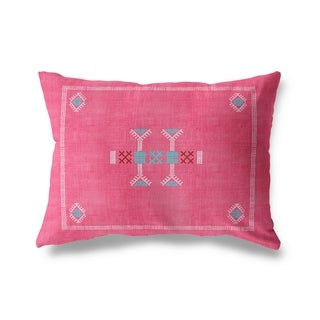 Morroccan Kilim Pink Lumbar Pillow By Becky Bailey