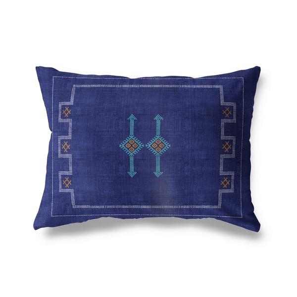 Cactus Silk Indigo Lumbar Pillow By Kavka Designs
