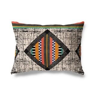 Bright Geometric Lumbar Pillow By Michelle Parascandolo