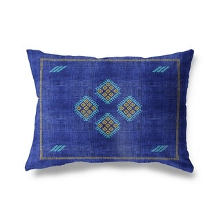 Kilim Bright Indigo Lumbar Pillow By Becky Bailey
