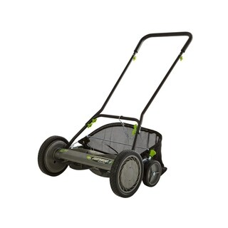 """EARTHWISE 18"""" Reel Push Mower with Grass Catcher and Sharpening Kit"""