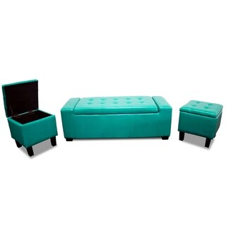 Best Master Furniture 3 Pieces Bench and Stools with Storage
