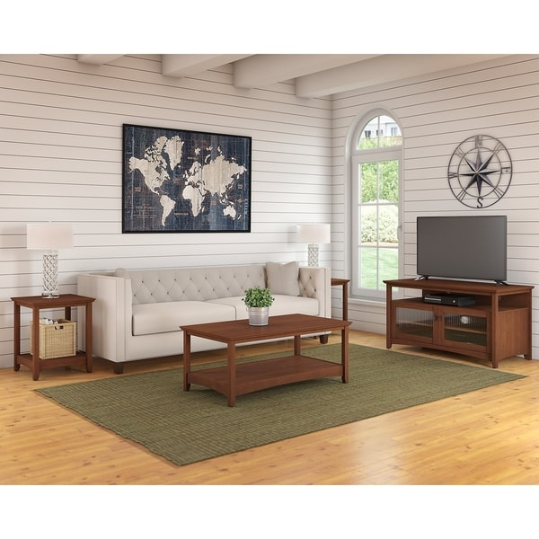 Shop Buena Vista Tv Stand Coffee Table And Set Of 2 End Tables In
