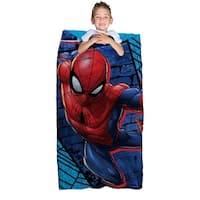 "Marvel Spiderman Slumber Bag and Backpack Set, 30"" x 60"""