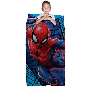 """Marvel Spiderman Slumber Bag and Backpack Set, 30"""" x 60"""""""