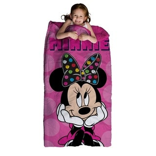 "Disney Minnie Mouse Slumber Bag and Backpack Set, 30"" x 60"""