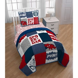 Marvel Spiderman Spideysense Reversible 3-piece Quilt Set