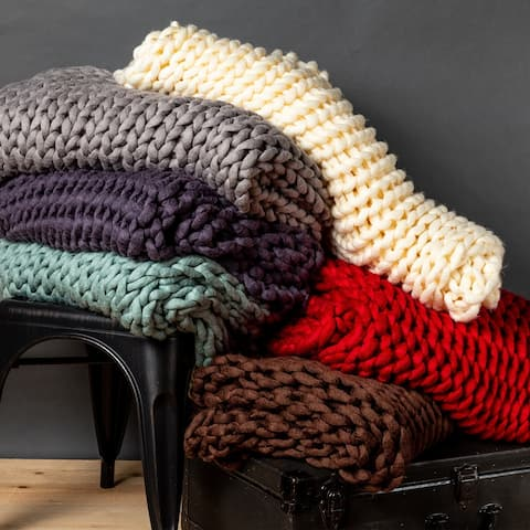 Your Lifestyle Chunky Knitted Throw