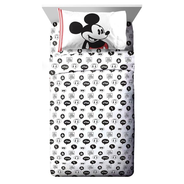 Disney Mickey Mouse Jersey Classic 3 Piece Twin Sheet Set