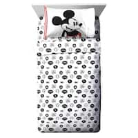 Disney Mickey Mouse Jersey Classic 3 Piece Twin Sheet Set