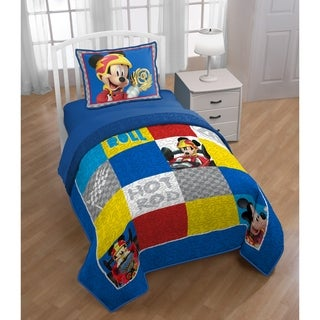 Disney Mickey Mouse Clubhouse Roadster Racer Reversible Oversized Twin Quilt