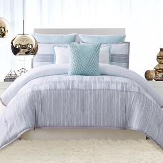 Vince Camuto Kasu Stripe 3 Piece Comforter Set