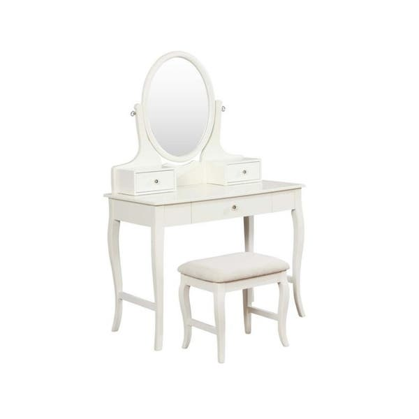 Fantastic Shop Kayla Ivory Vanity Set Free Shipping Today Ncnpc Chair Design For Home Ncnpcorg