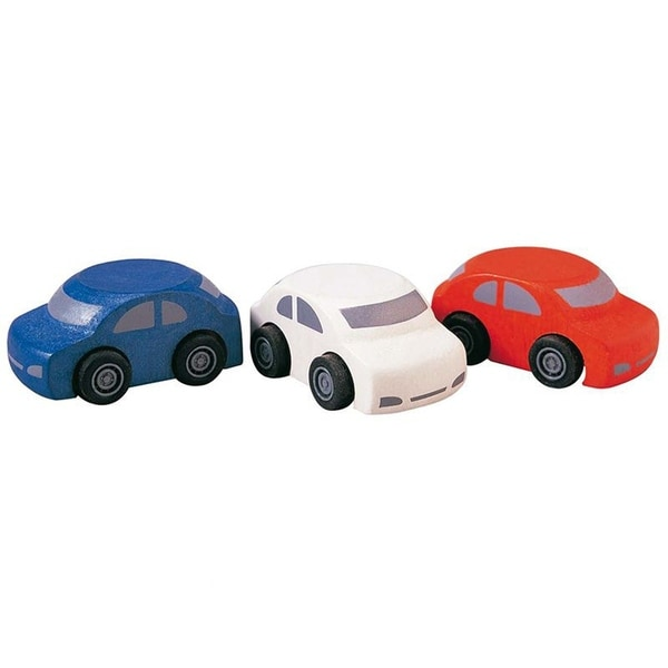 PlanToys Wooden Family Toy Cars (Set of 3)