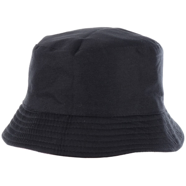 Fashion Packable Reversible Black Printed Fisherman Bucket Sun Hat