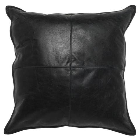 Buy Black, Leather Throw Pillows Online at Overstock | Our Best ...