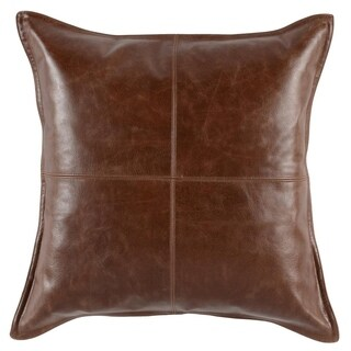 Kosas Home Cheyenne 100 Leather 22-inch Throw Pillow
