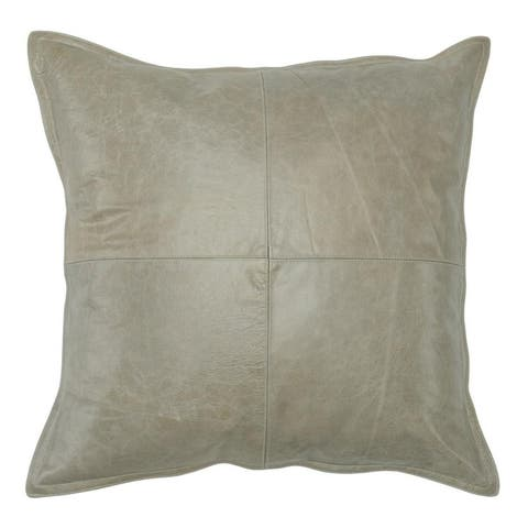 Strick & Bolton Lindi Leather 22-inch Throw Pillow