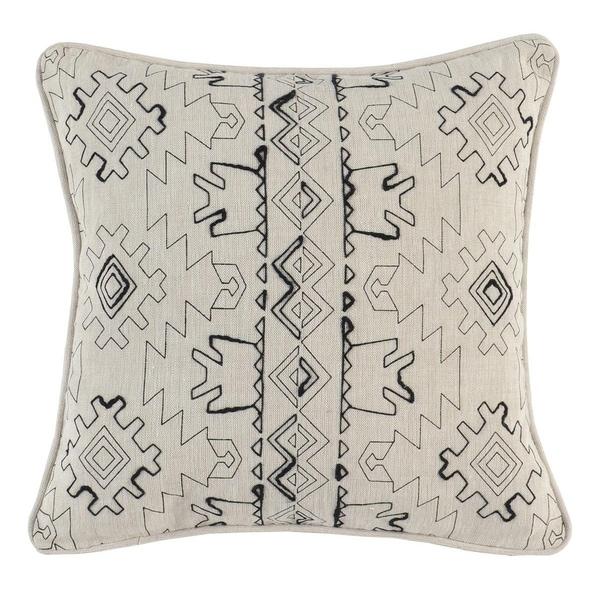 Kosas Home Zane Embroidered 18-inch Throw Pillow