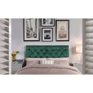 Link to Chic Home Emer Velvet Upholstered Diamond-tufted Headboard Similar Items in Bedroom Furniture