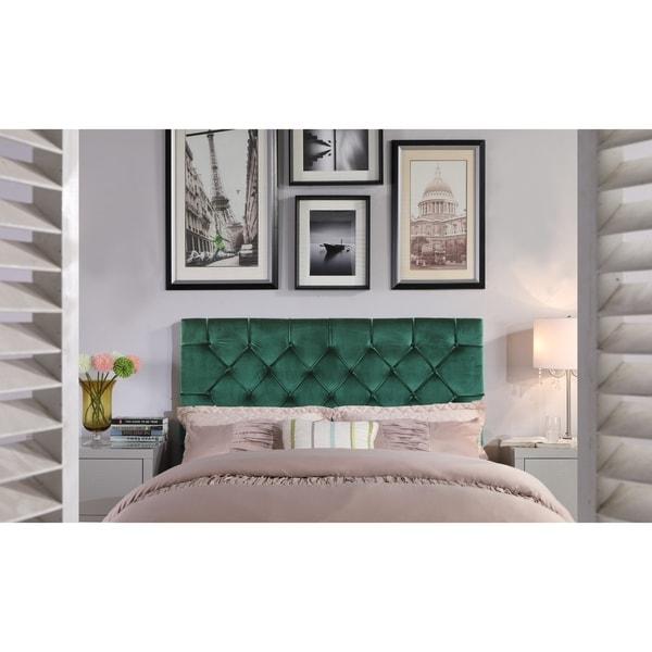 Chic Home Emer Velvet Upholstered Diamond-tufted Headboard. Opens flyout.