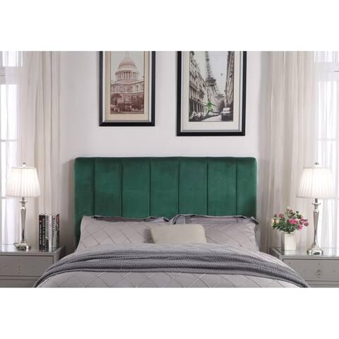 Chic Home Anwar Velvet Upholstered Vertical Striped Headboard