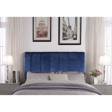Chic Home Anwar Velvet Upholstered Vertical Striped Headboard