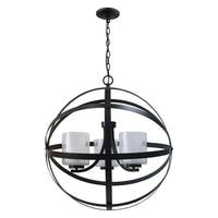 Plise Collection Three Light Chandelier