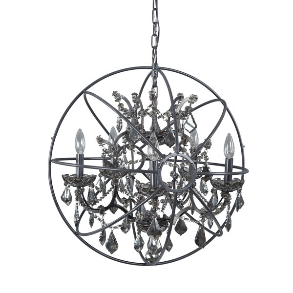 Contessa Collection Metal/Crystal 5-light Chandelier
