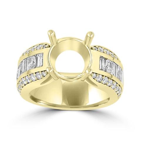 La Vita Vital 18K YG Diamond 2.15cts TDW Semi Mount Ring