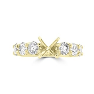 La Vita Vital 14K Yellow Gold Diamond 1.85cts TDW Semi-Mount Ring