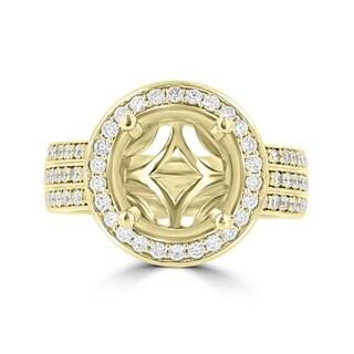 La Vita Vital 14K Yellow Gold Diamond 0.80cts TDW Semi-Mount Ring