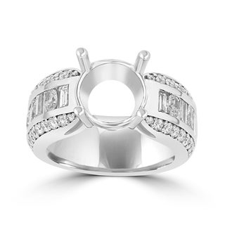 La Vita Vital 18K WG Diamond 2.15cts TDW Semi Mount Ring