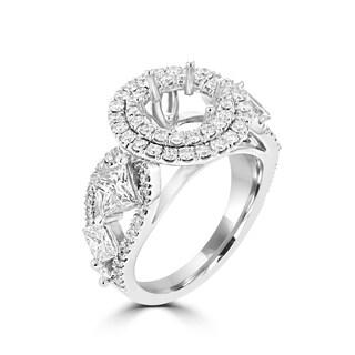 La Vita Vital 18K WG Diamond 2.40cts TDW Semi Mount Ring