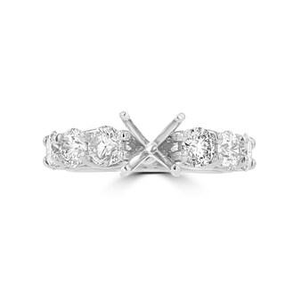 La Vita Vital 14K White Gold Diamond 1.85cts TDW Semi-Mount Ring