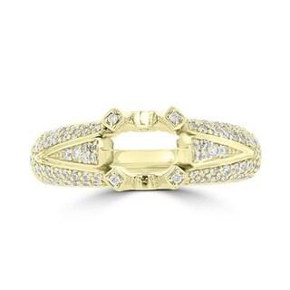 La Vita Vital 14K Yellow Gold Diamond 1.00cts TDW Semi-Mount Ring