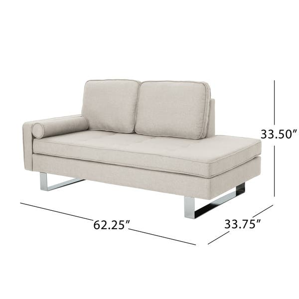 Shop Typhaine Modern Chaise Loveseat by Christopher Knight ...