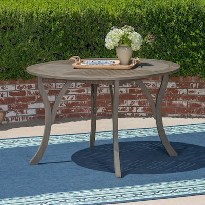 """Hermosa Outdoor 47"""" Round Dining Table by Christopher Knight Home - 30""""H x 47.25""""W x 47.25""""D"""