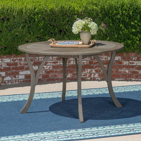"Hermosa Outdoor 47"" Round Dining Table by Christopher Knight Home - 30""H x 47.25""W x 47.25""D"