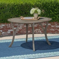 """Hermosa Outdoor 47"""" Round Dining Table by Christopher Knight Home"""