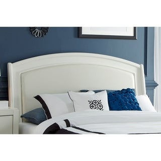 Avalon White Truffle Queen Panel Leather Headboard